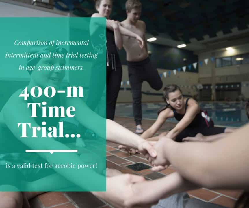 Comparison of incremental intermittent and time trial testing in age-group swimmers.
