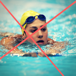 swimmers shouldn't use kickboards